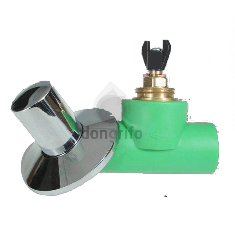 Valvula de corte de empotrar para tubo de polipropileno for Montura llave de paso