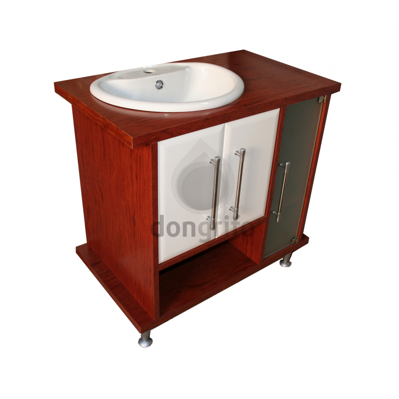 Mueble ba o lavabo madera 80 for Mueble lavabo madera