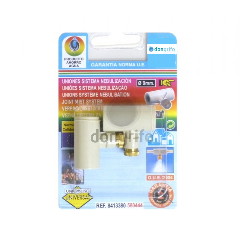 Te con cabezal sistema nebulizacion para tubo de 3 8 9mm for Nebulizadores de agua