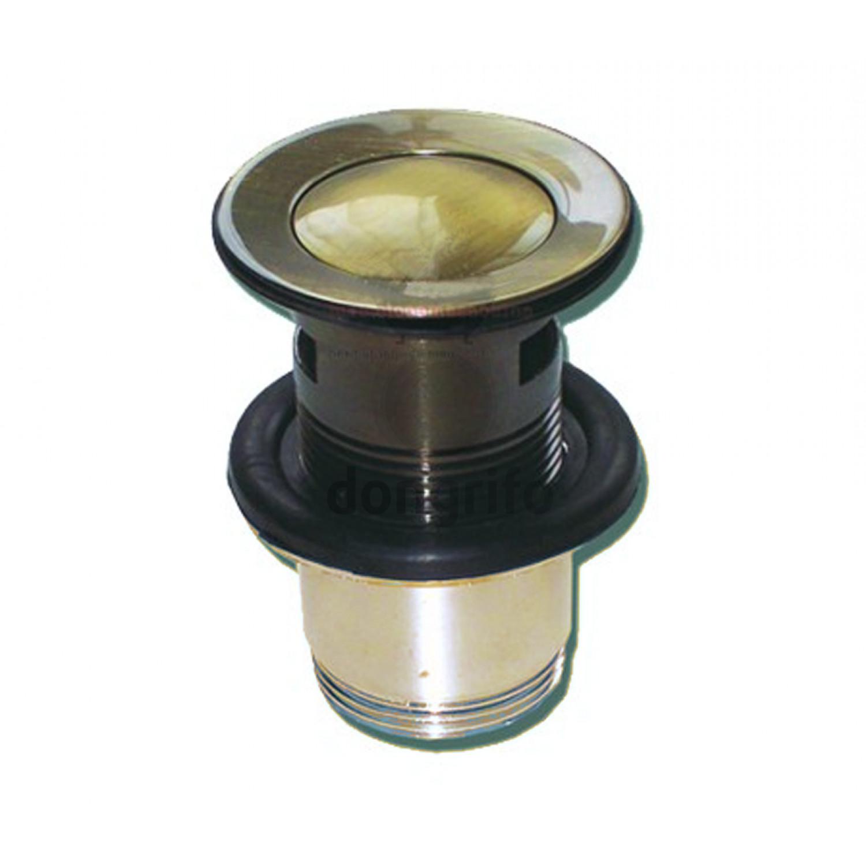 Valvula desague lavavo clic clac bronce for Valvula lavabo click clack