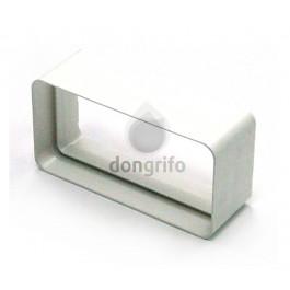 Manguito de pvc blanco para tubo rectangular de extraccion - Tubos pvc blanco ...